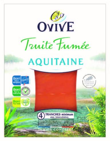 Truite fumée d'Aquitaine OVIVE