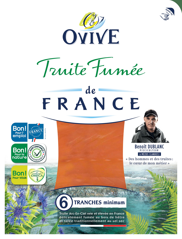 Truite fumée de France 6 tranches OVIVE
