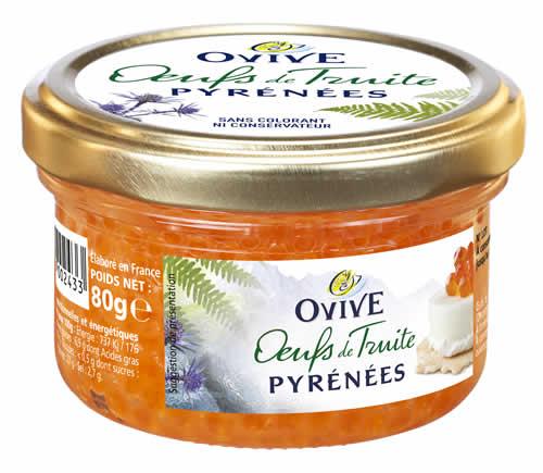 Oeufs de truite des Pyrénées OVIVE