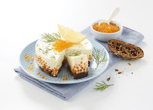 Cheesecake salé aux oeufs de truite